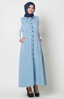 Gamis Jeans Casual Muslim Desain Terbaik Edisi Terbaru  3b515752e1