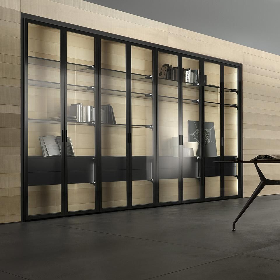 Covering Glass Kitchen Cabinets: Cover, Giuseppe Bavuso, Rimadesio #honme #hinged #doors