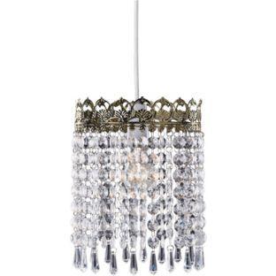 Buy living glacier pendant light shade brass at argos your buy living glacier pendant light shade brass at argos your aloadofball Images