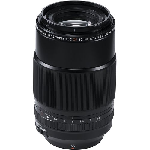 Take outstanding close-ups with this 80mm Fujifilm macro lens. Its 9.8-inch minimum focusing distance lets you isolate objects successfully, and the internal motor delivers quick, smooth autofocusing, ideal for working with fast-moving subjects. This weather-sealed Fujifilm macro lens has a specialized fluorine coating to guard against smudges, moisture and dust.