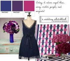 navy blue and rasberry wedding color scheme - Google Search