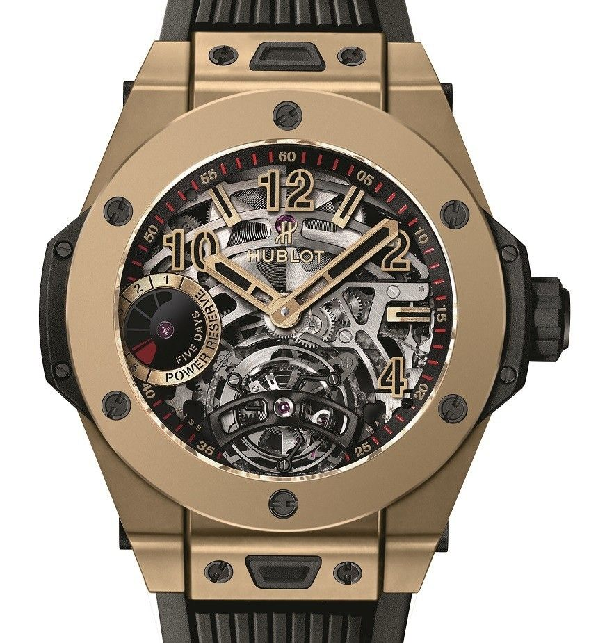 Hublot Big Bang Unico And Hublot Big Bang Tourbillon 5-day Power Reserve Indicator Full Magic Gold Watches