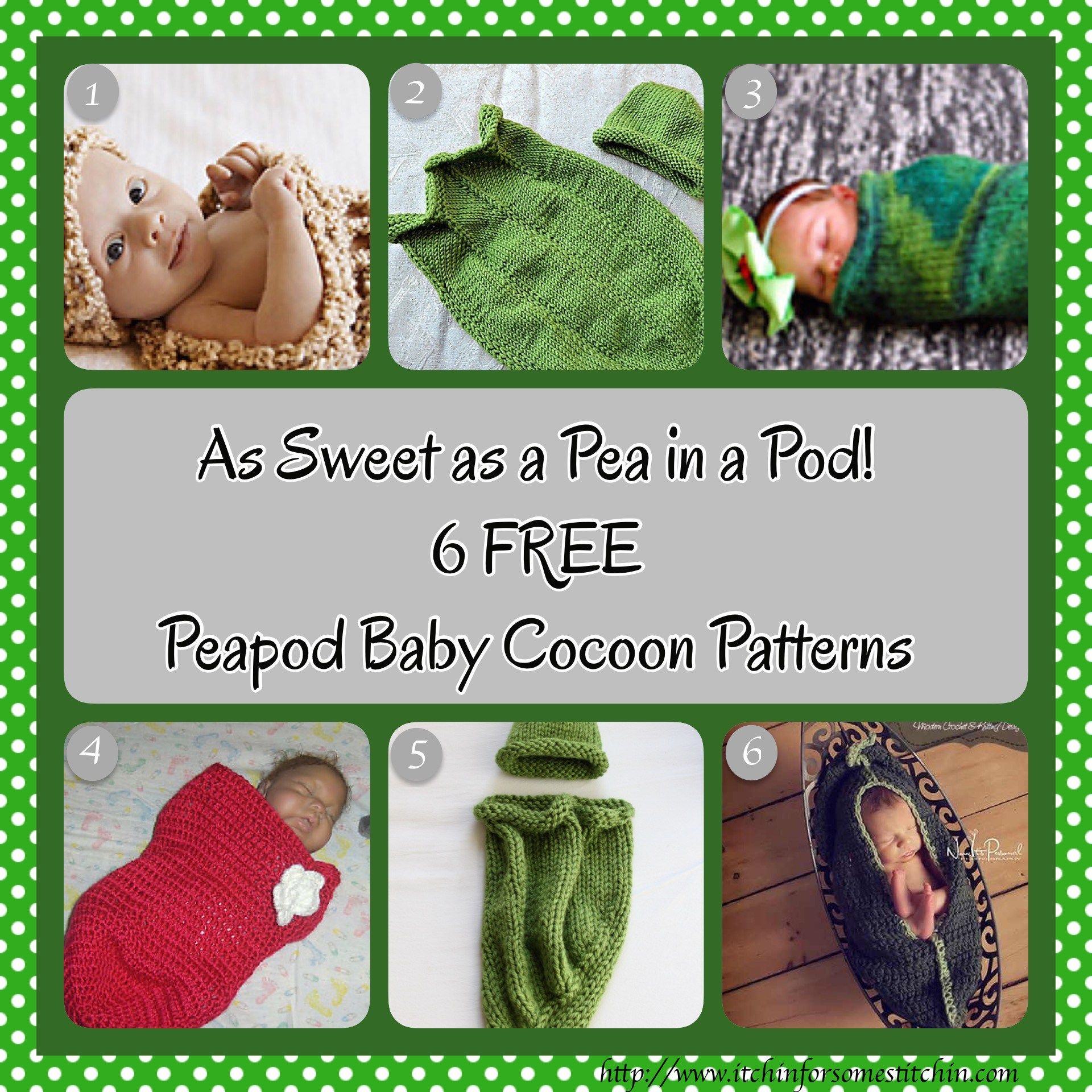 Roundup: 6 Fabulous and Free Peapod Baby Cocoon Patterns | Gorros ...