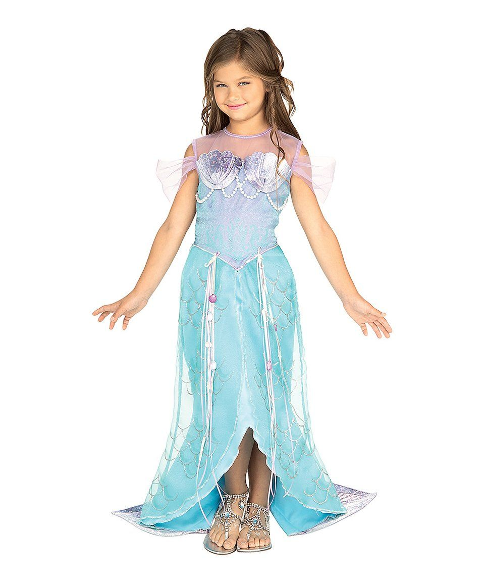 Take a look at this Blue Mermaid Dress-Up Outfit - Toddler & Kids ...