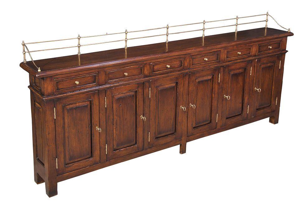 Sideboard Buffet Cabinet Hallway Narrow Solid Walnut Handmade New