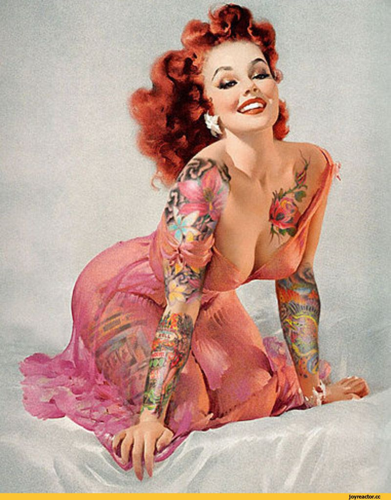 Bildresultat för tattooed pin up girl