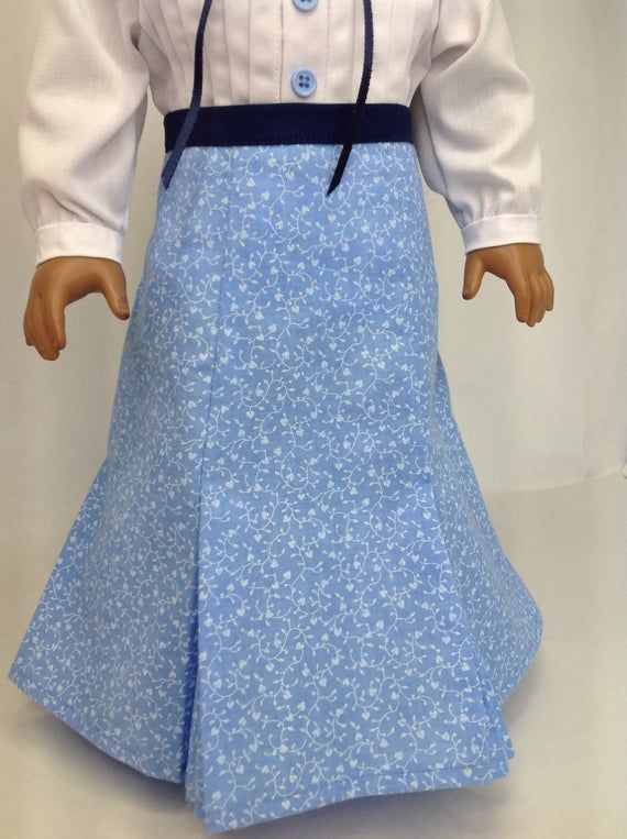 Historical shirtwaist, 18 inch doll clothes, doll skirt, pleated skirt, school marm, Early 1900s sty #historicaldollclothes