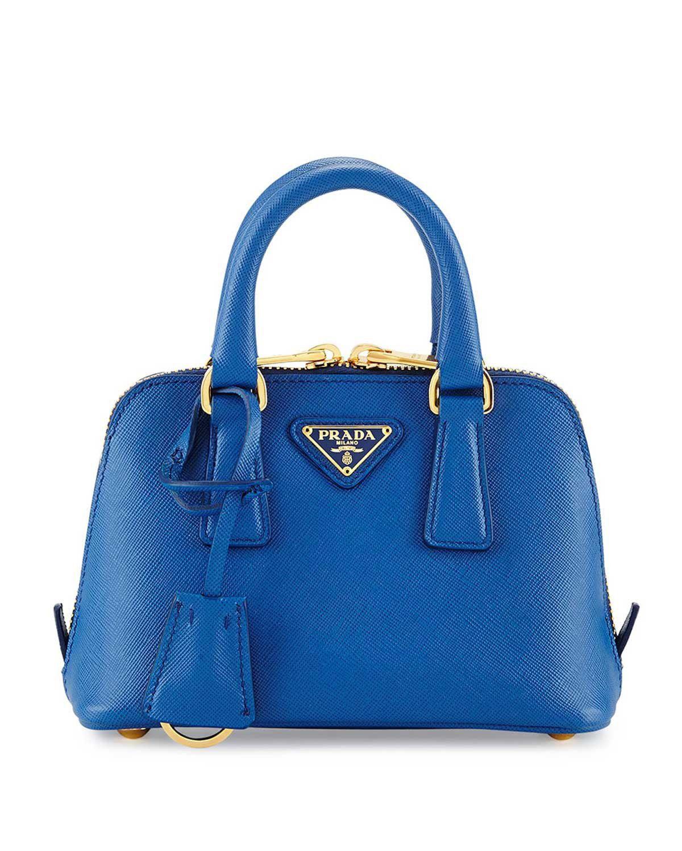f84dc10ff4cb ... low price prada mini saffiano promenade bag cobalt blue bags b1240  b6997 ...