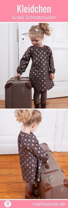 Mädchenkleid Freebook mit Raglan-Ärmeln #keinekleidungnähen