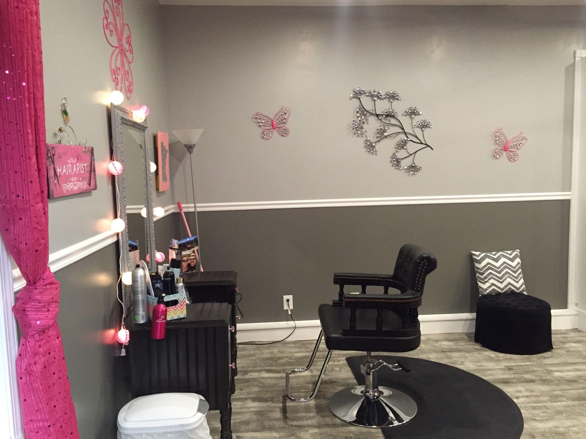 Garage to salon  Salon decor studio, Salon decor, Home salon