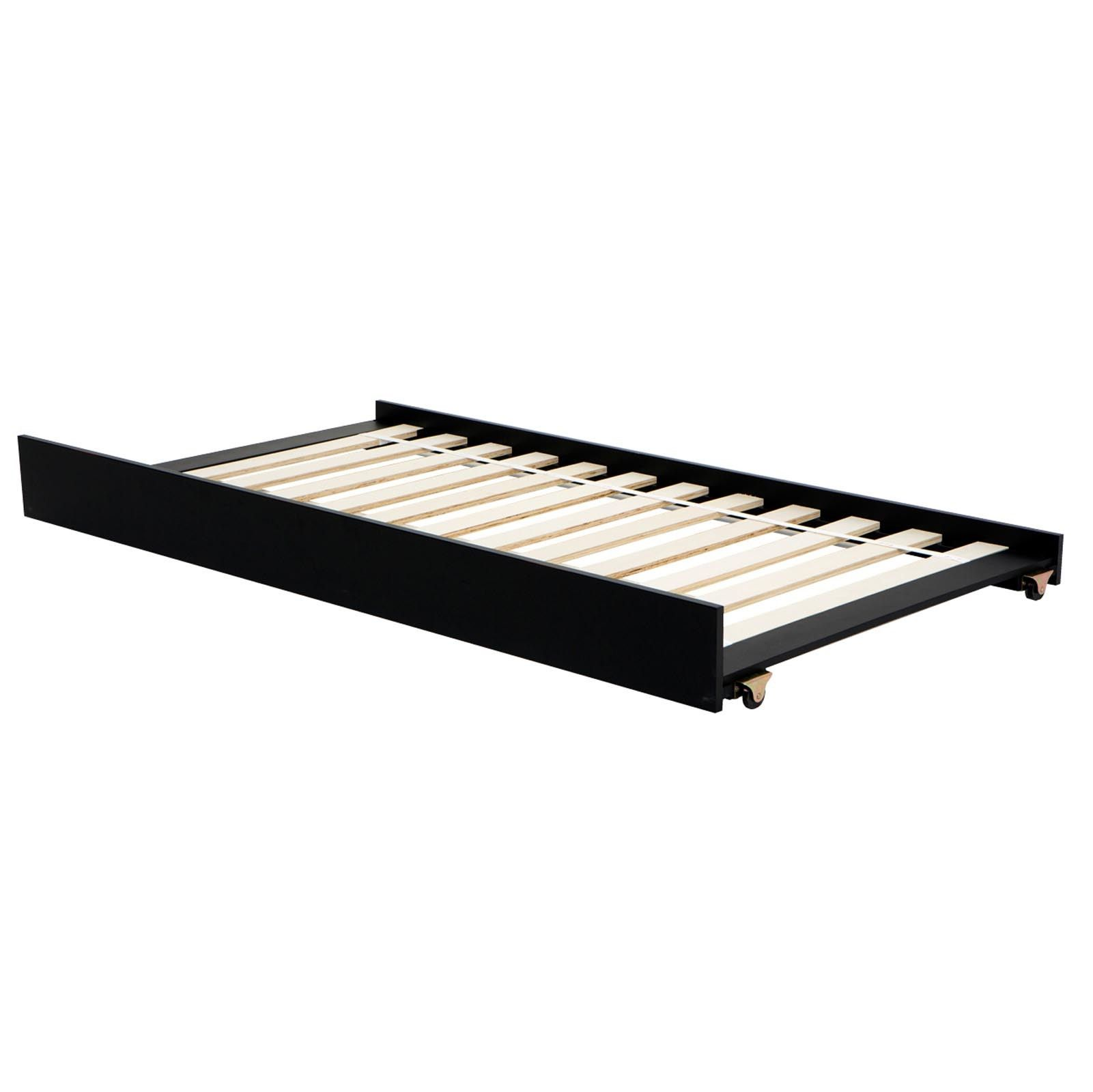 Black Trundle Twin Size Bed (seamless photo) - Could go under Malm ...