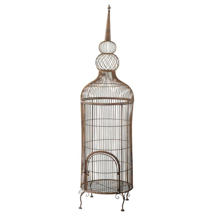 You\u0027ll love the Decorative Bird Cage With Stand at Wayfair - Great