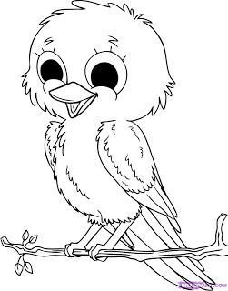 Five Birds Cute Coloring Pages With Images Bird Coloring Pages