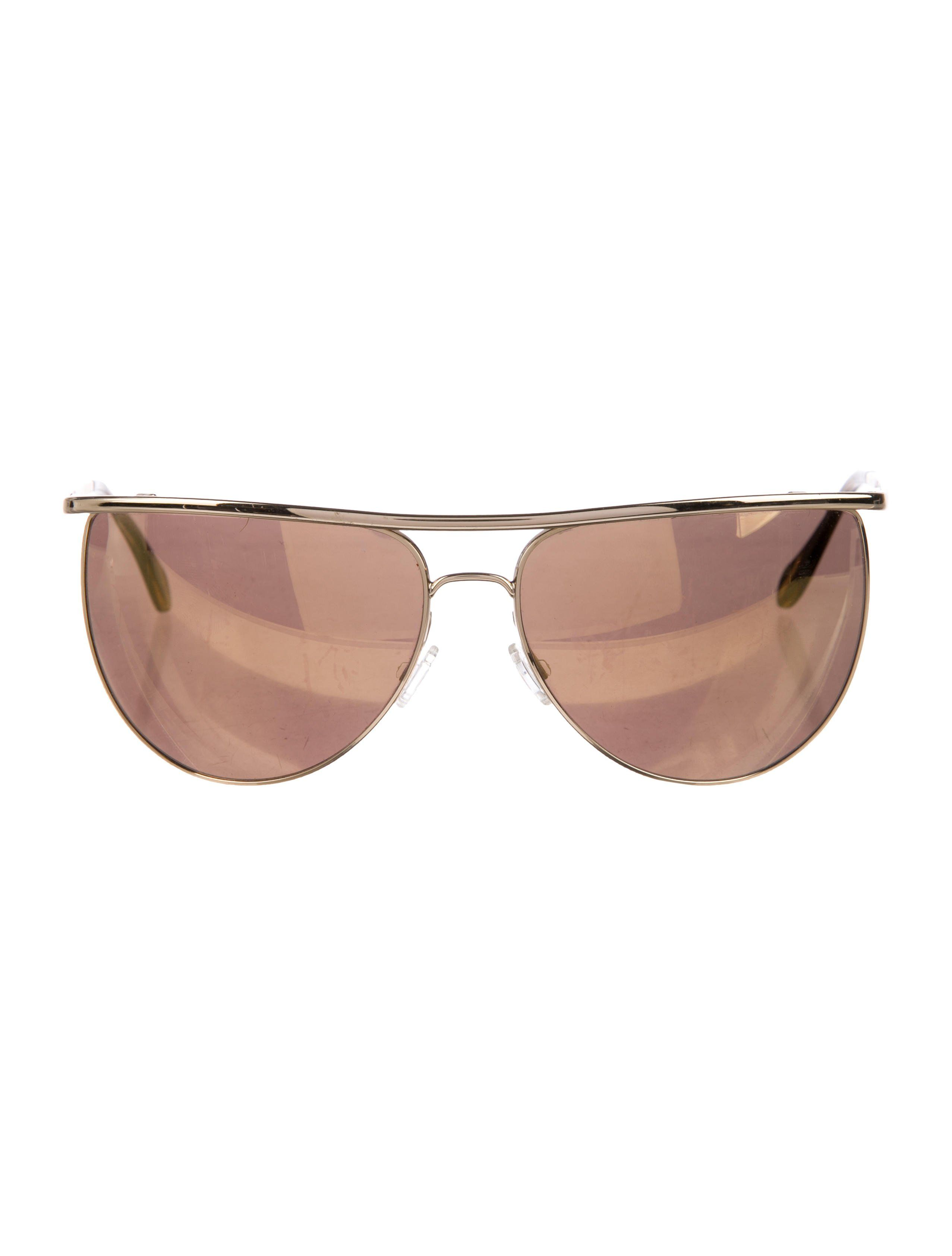 4e44e2128 Men's gold-tone metal Balmain for Oliver Peoples aviator sunglasses with  reflective lenses.