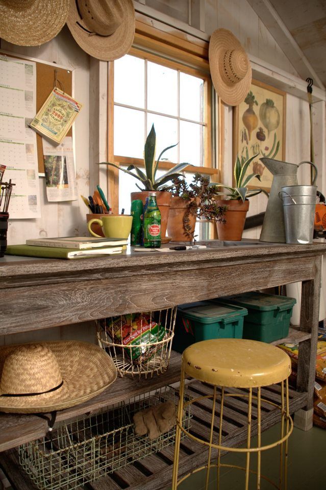 From P Allen Smith Shed Interior Garden Shed Interiors Garden Tool Shed
