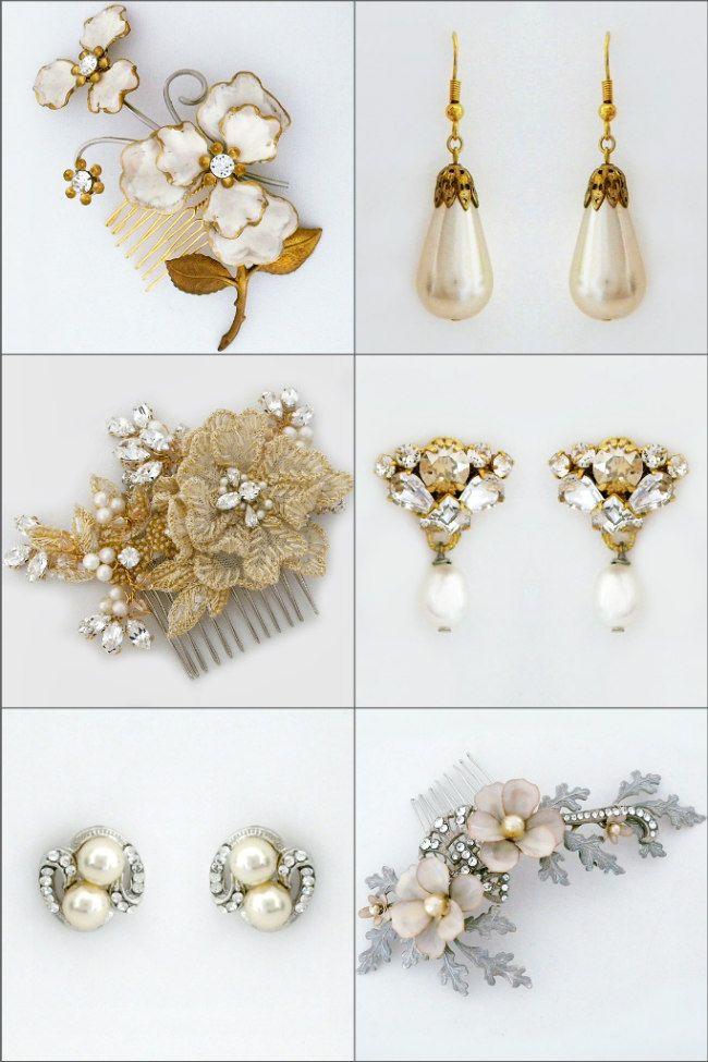 Vintage Pearl Earrings & Bridal Hair Accessories. Discover