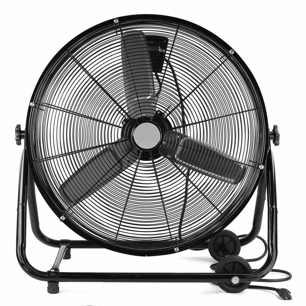 24 Portable Roll Drum Floor Fan Shop Industrial Heavy Duty Commercial Warehouse High Velocity Fan Floor Fan Industrial Fan