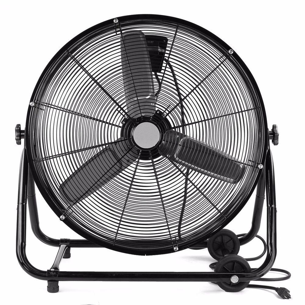 24 Portable Roll Drum Floor Fan Shop Industrial Heavy Duty Commercial Warehouse High Velocity Fan Floor Fan Industrial Fan