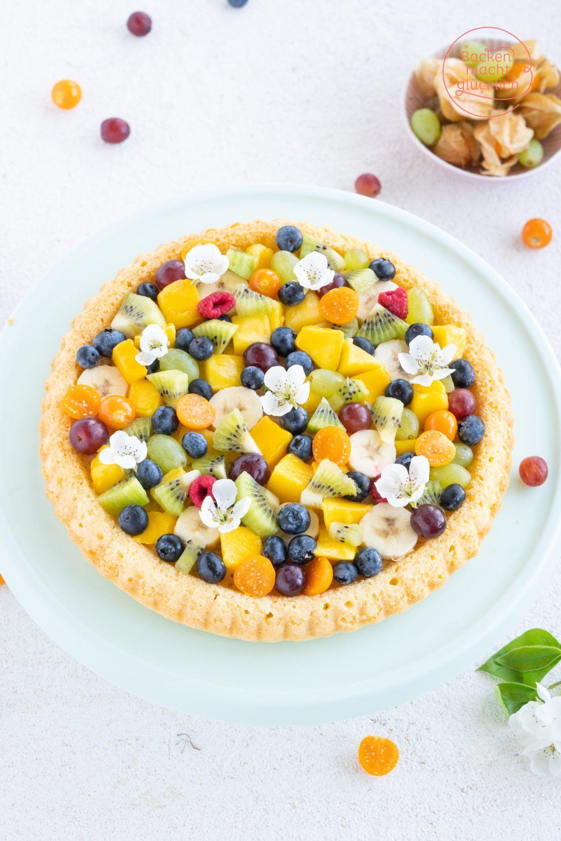 Bunter Biskuit Obstkuchen Vom Blech Backen Macht Glucklich