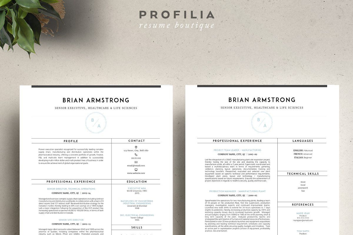Word Resume & Cover letter Template , affiliate,