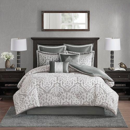 Madison Park Apartments California: Madison Park Dillon 8 Piece Jacquard Comforter Set