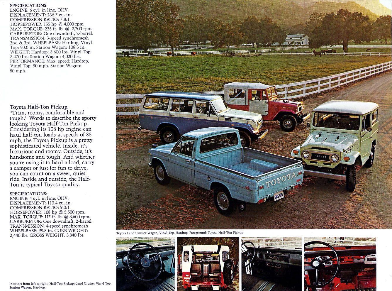 Classic Toyota Land Cruiser  Pickup Brochure  Japanese Classic