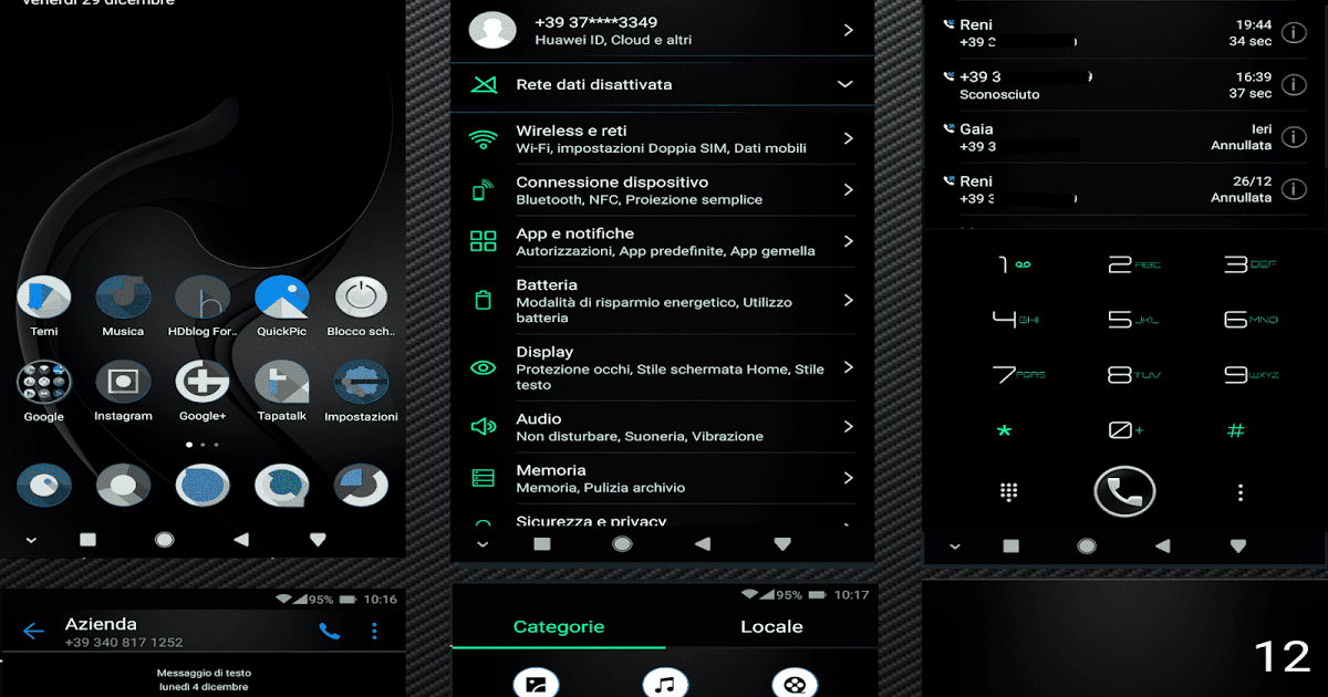 Download Whiked Green v2 Theme For EMUI 5 0 8 0 Huawei