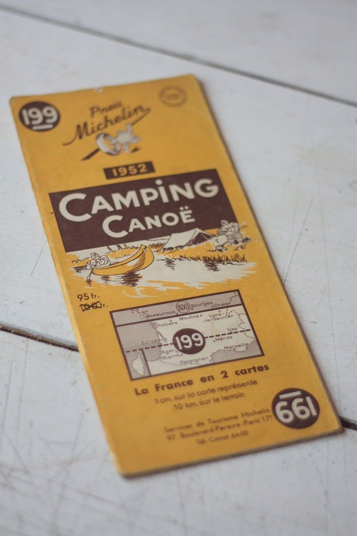 Rare Vintage Michelin Map for Camping in