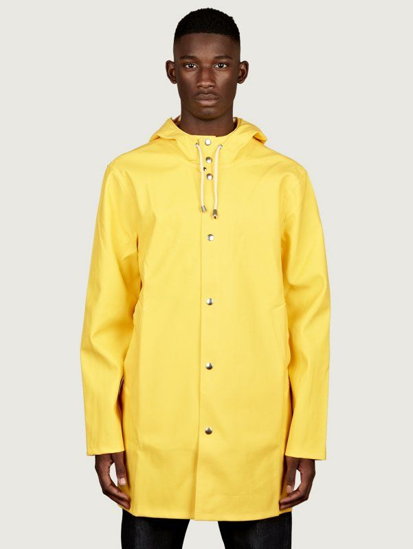 The Shamus Water-Resistant Cotton Raincoat in Yellow - $298 ...