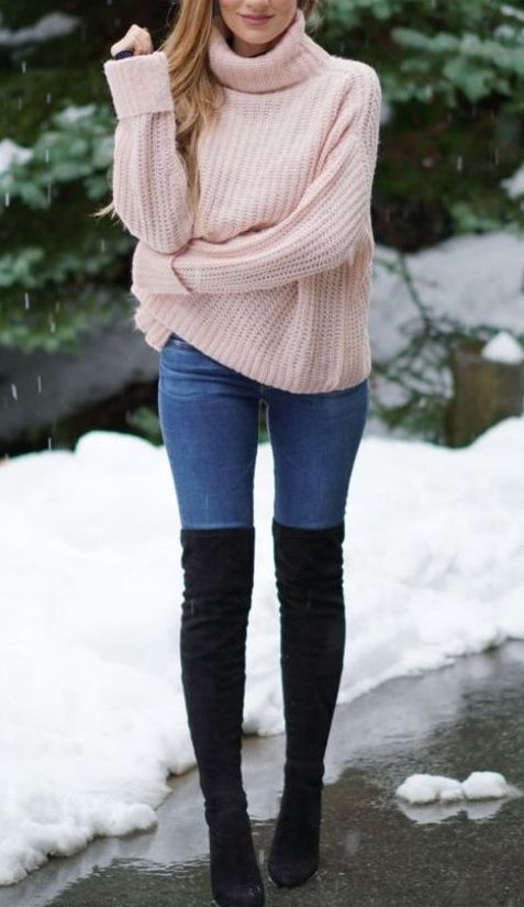 25 Knee High Boots Outfits for Winter Ideas to Copy Right