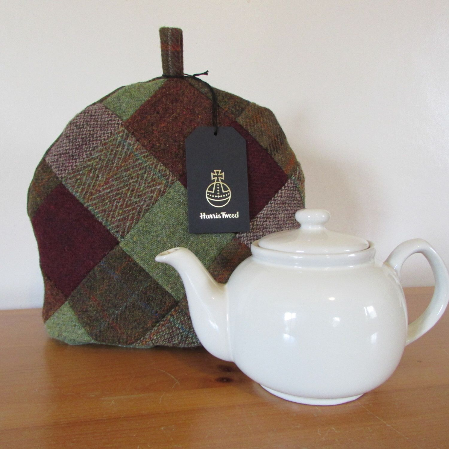 Harris Tweed Teapot Cosy/Cover by PoppyMallow on Etsy https://www.etsy.com/listing/462354909/harris-tweed-teapot-cosycover