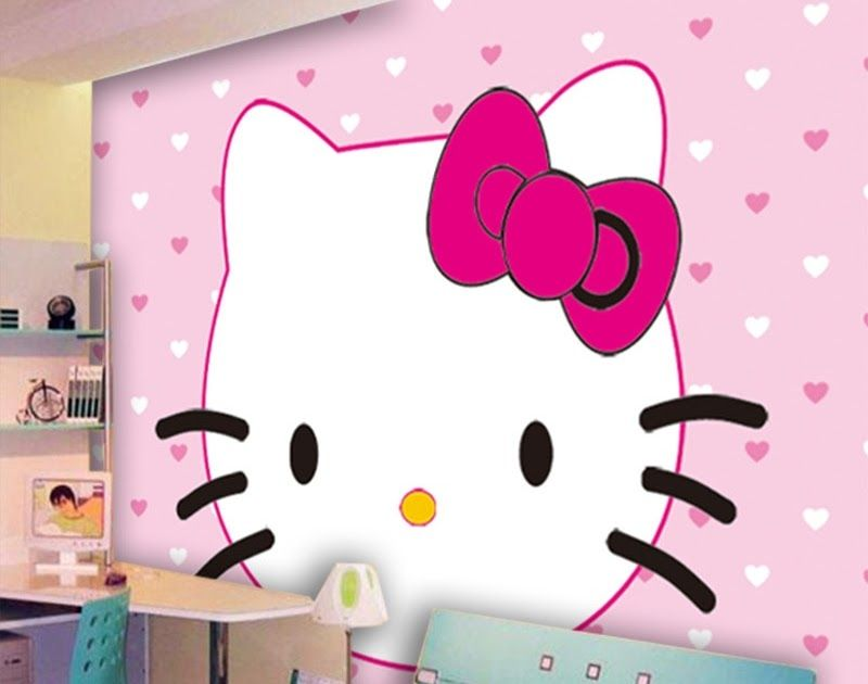Paling Hits 30 Gambar Lukisan Dinding Hello Kitty Eco Friendly 3d Huge Mural Hello Kitty Background For Kids Download Di 2020 Lukisan Dinding Dinding Hello Kitty