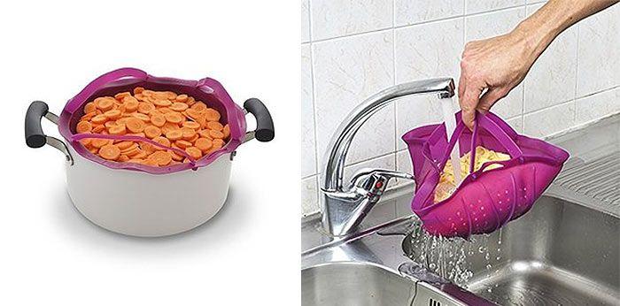 Easy Silicone Veggie Steamer Kitchen Gadgets
