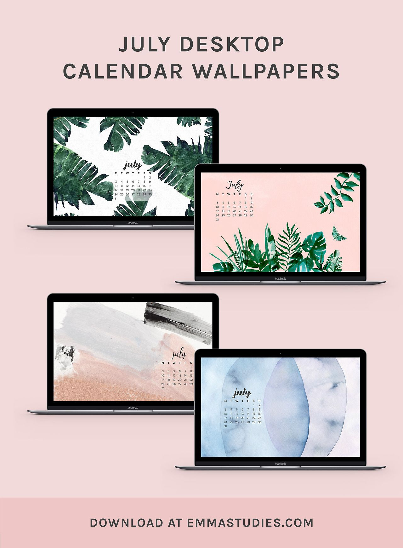 July calendar desktop wallpapers from DesignLoveFestWith