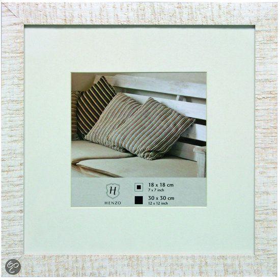 Henzo Driftwood - Fotolijst - Fotomaat 30x30 cm - Wit