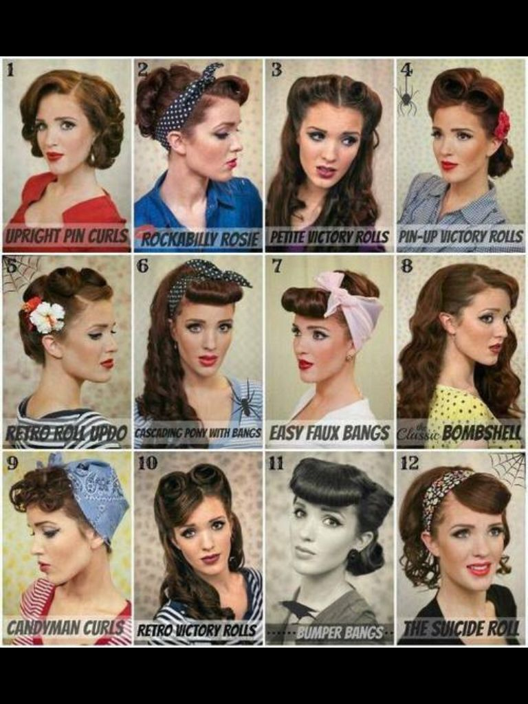 Pin up styles hair ideas pinterest