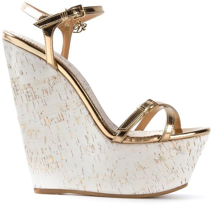 41f558702ce DSquared platform wedge sandal on shopstyle.co.uk