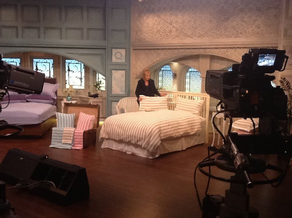the qvc studio with northern nights - my husband and i have two