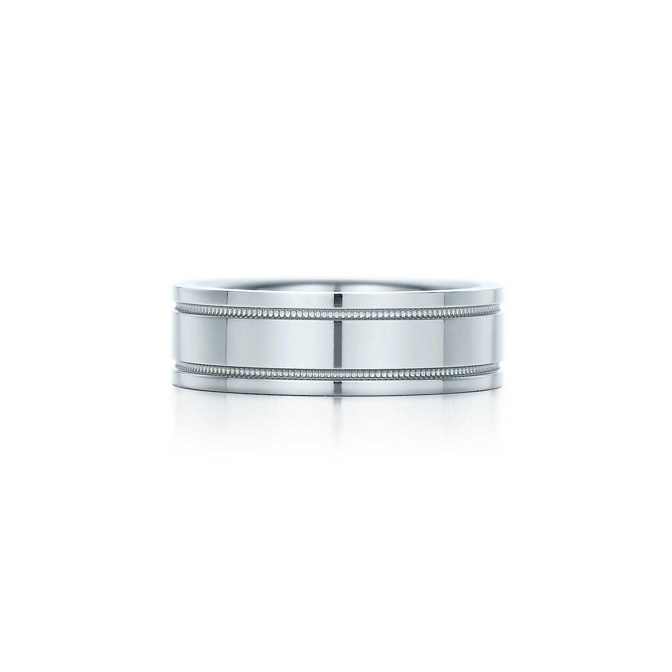 Tiffany Co Milgrain Wedding Br Band Ring Milgrain Ring Mens Wedding Bands Milgrain Wedding Bands