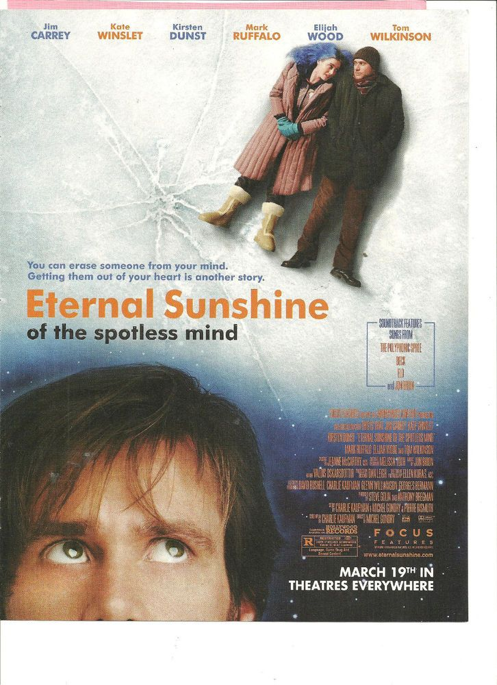 Jim Carrey Eternal Sunshine Of The Spotless Mind Full Page Promotional Ad Eternal Sunshine Of The Spotless Mind Eternal Sunshine Jim Carrey