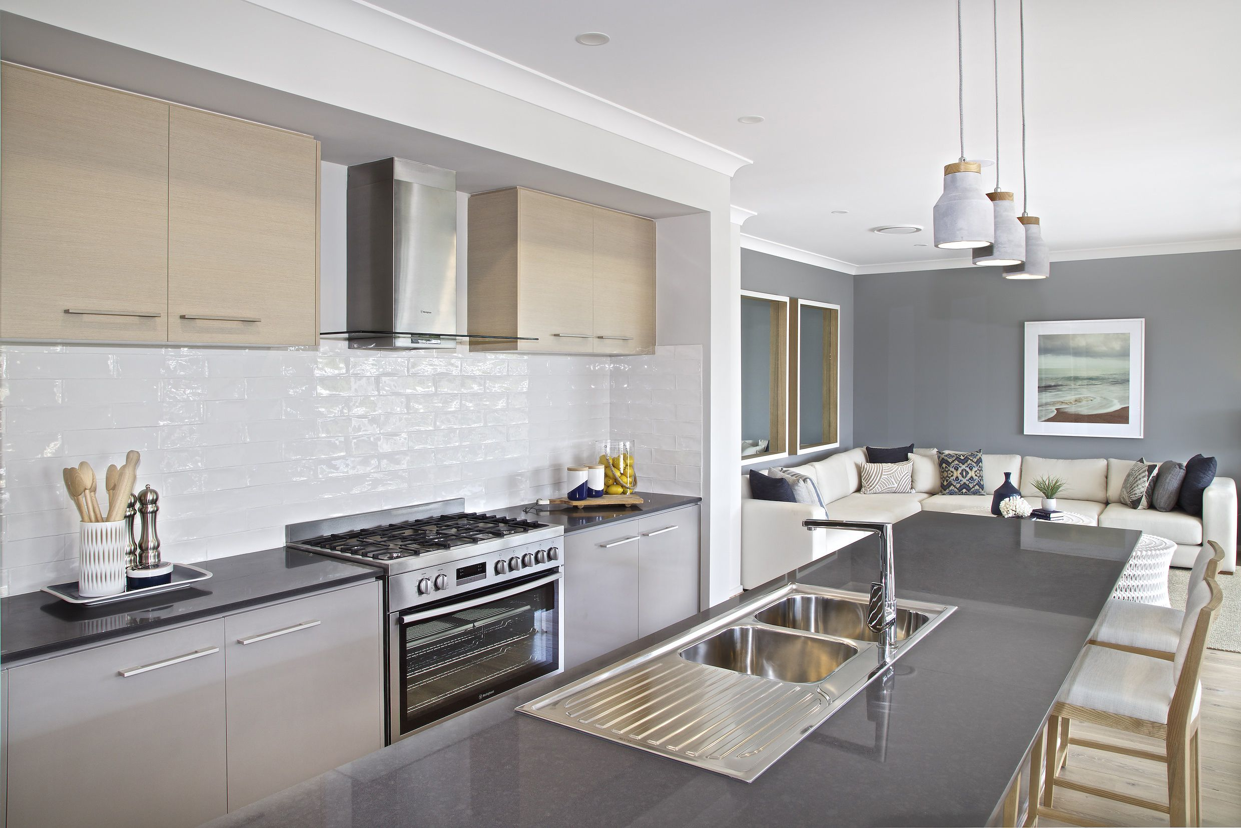 Love the grey walls with the grey counter top. Clarendon Homes ...