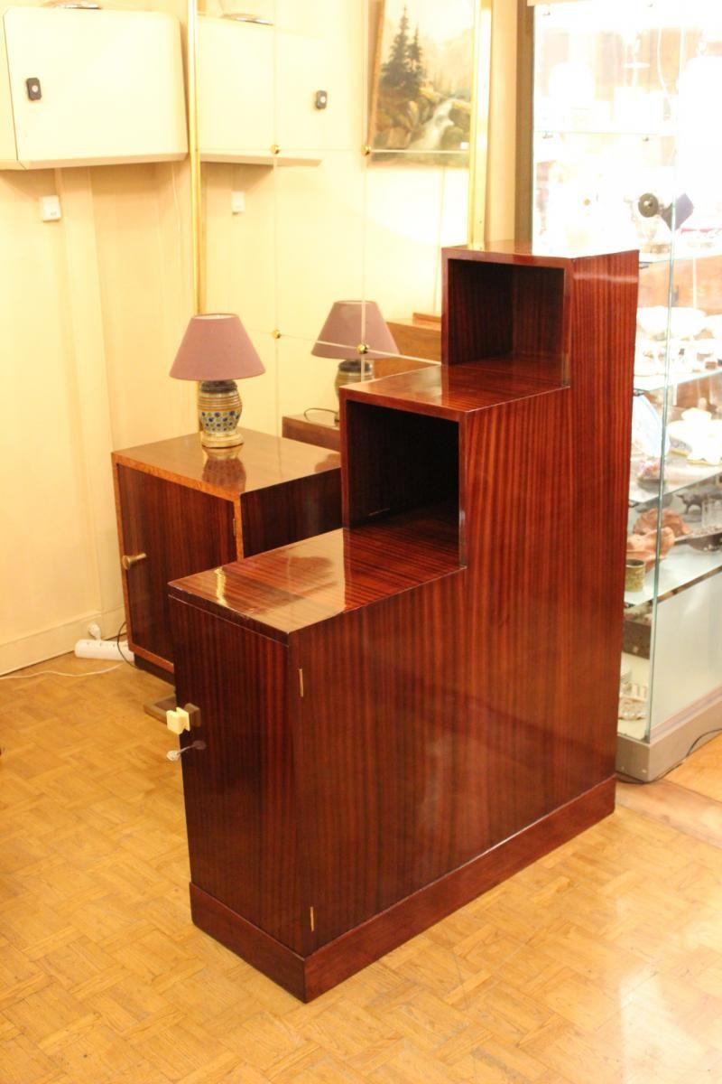 Etagere Art Deco En Acajou Antiquites Christophe Rochet Proantic Meubles Art Deco Art Deco Deco