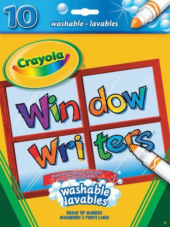 Crayola 10 Window Writers Washable Window Markers Gifts For