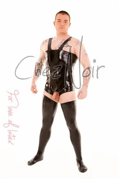 Latex Wrestling Suit With Open Crotch Latex Bodysuits