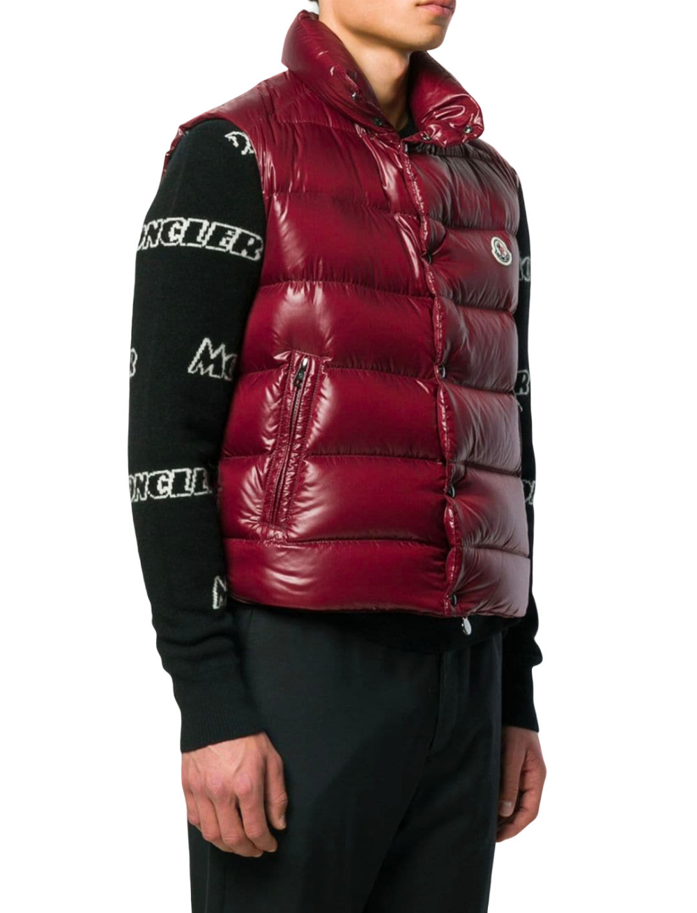 A Boogie Wit Da Hoodie Padded Gilet, Red, Moncler | Post