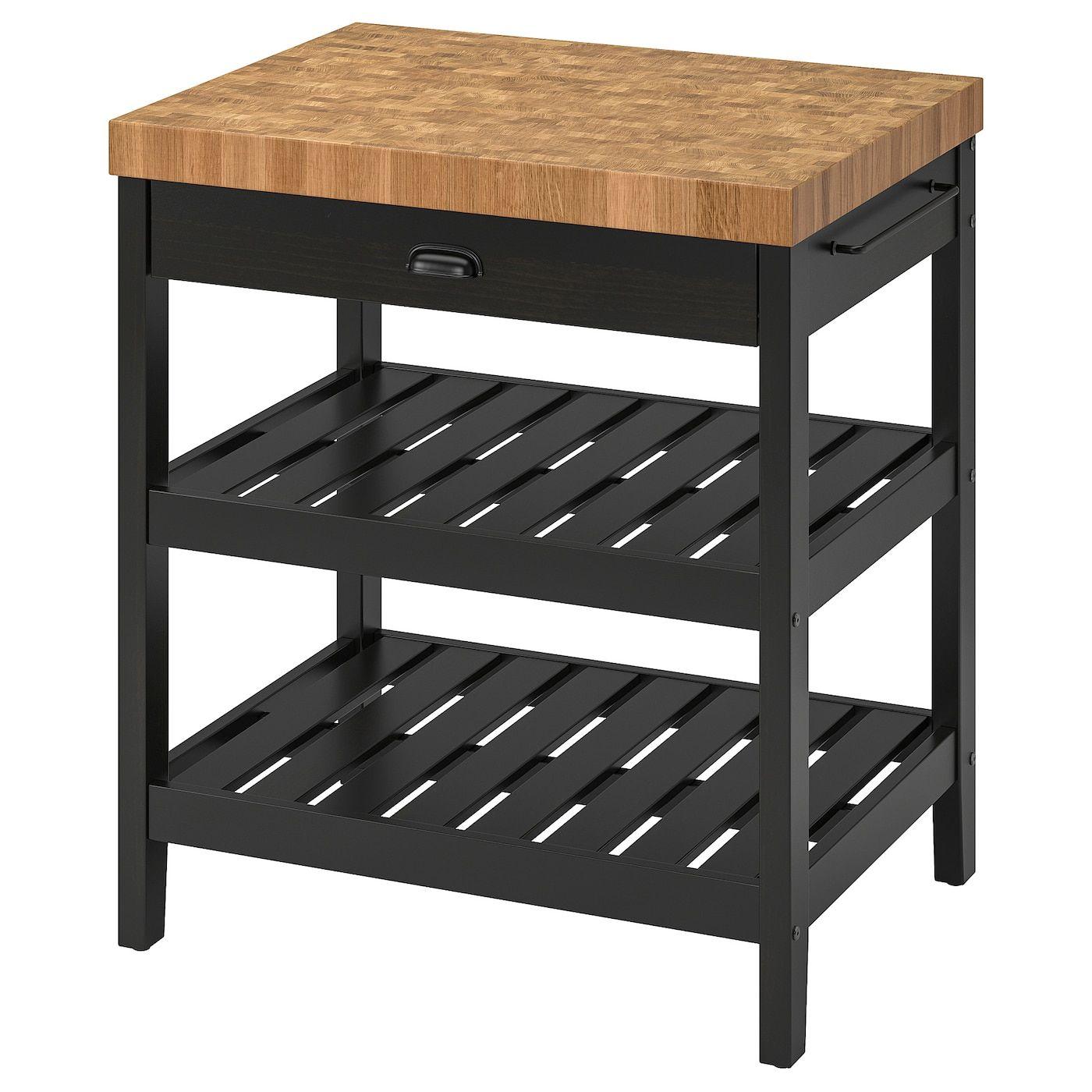 Best Ikea Vadholma Black Oak Kitchen Island Kitchen Island 400 x 300