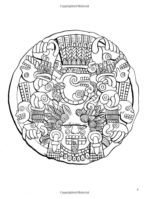 Aztec Designs Coloring Book Dover Design Coloring Books Designs Coloring Books Coloring Books Coloring Contest