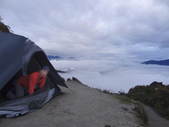 """Honorable Mention: Daniel Haueter, """"Morning at Camp Phuyopatamarka"""""""