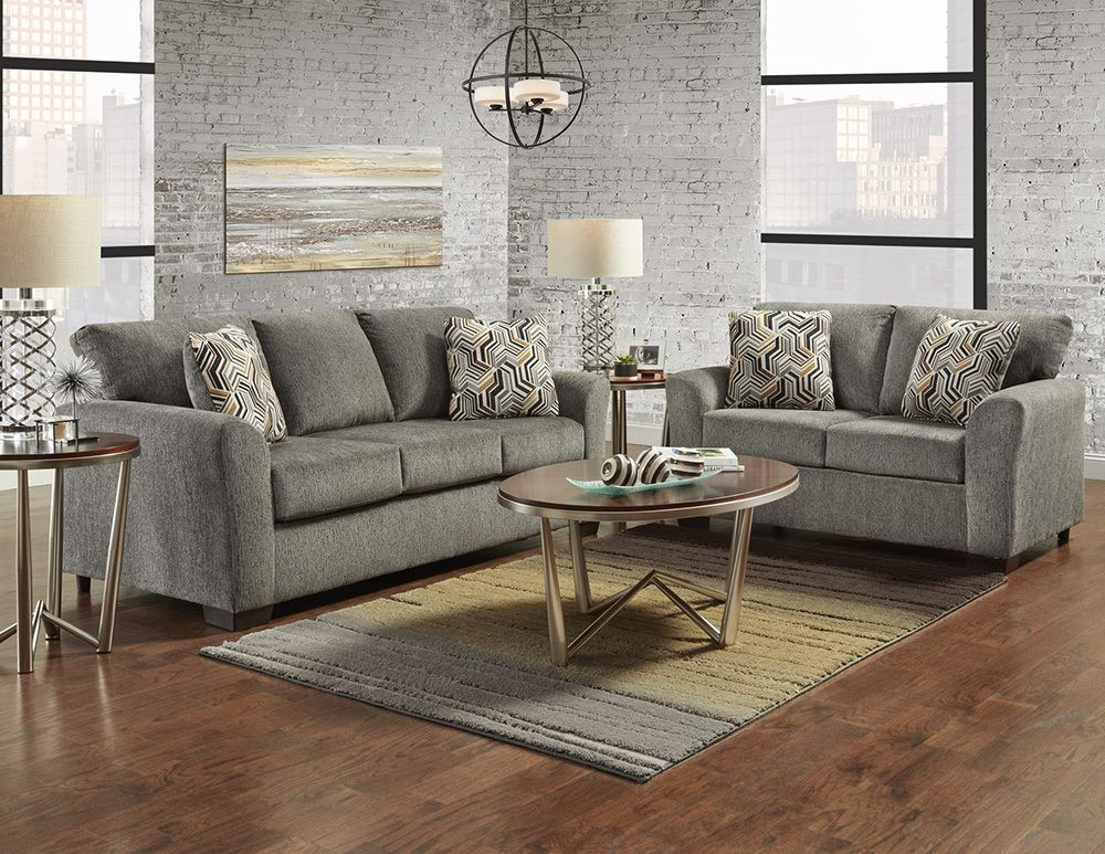 Affordable Furniture Allure Grey Sofa Loveseat Set Savvy Discount Furniture Affordable Furniture Furniture Loveseat Sofa