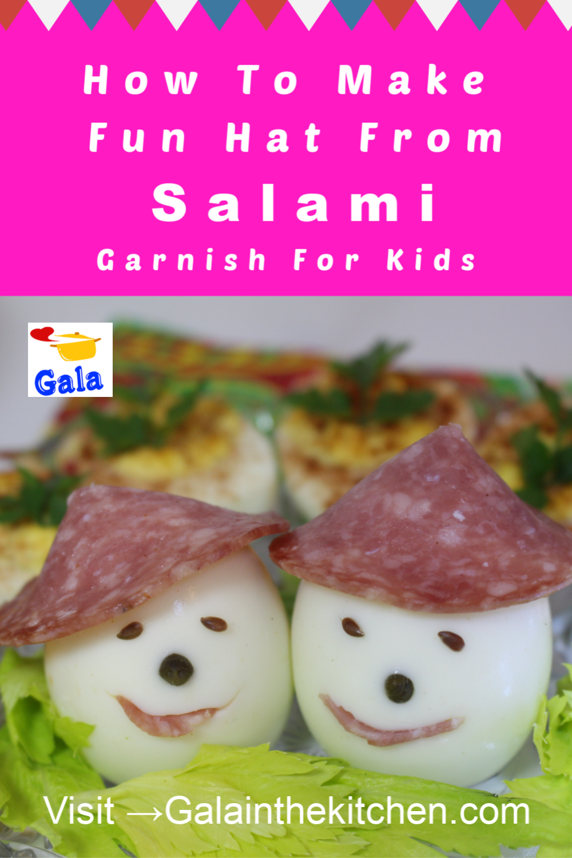 3 Fun And Easy Salami Garnish Ideas For Party Table Gala In The Kitchen Food Garnish Fun Kids Food Cute Food